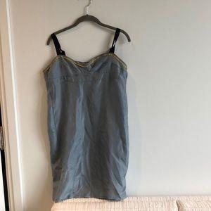 Marni blue silk mini slip dress